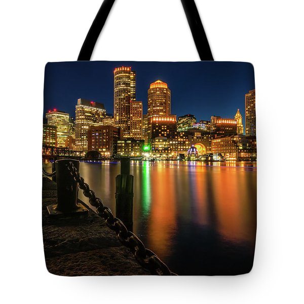Blue Hour At Boston's Fan Pier Tote Bag