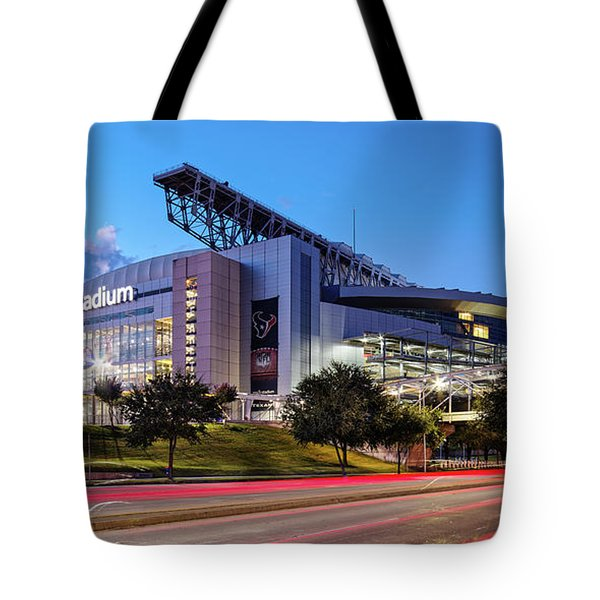 Blue Hour Photograph Of Nrg Stadium - Home Of The Houston Texans - Houston Texas Tote Bag