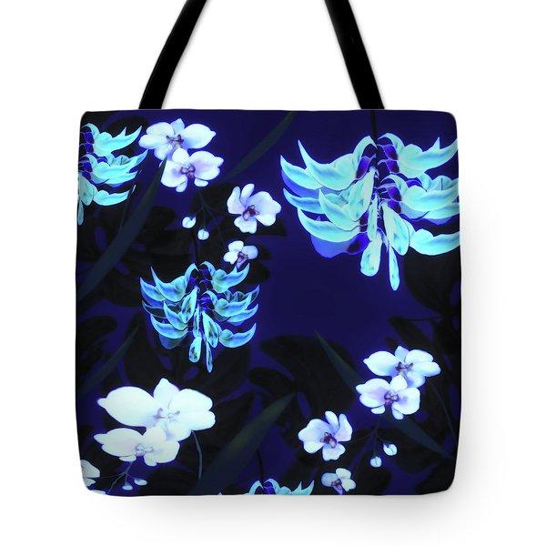 Blue Jungle Floral Tote Bag