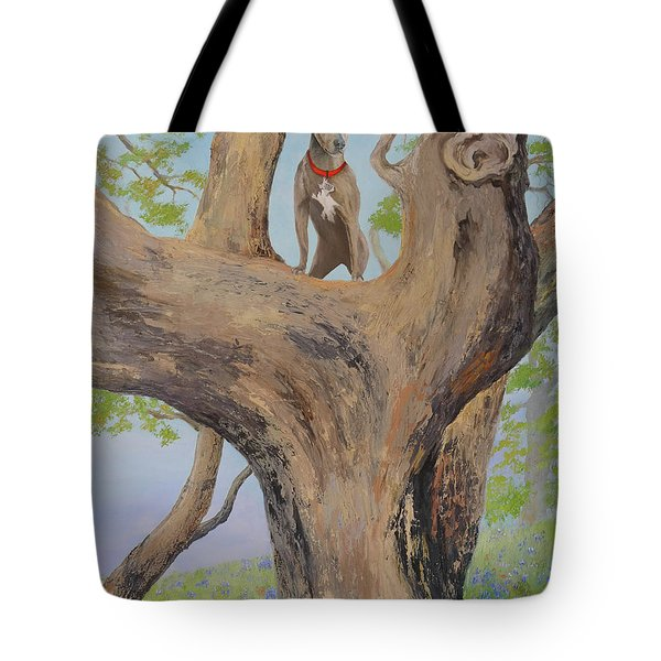 Blue Lacey In A Tree Tote Bag