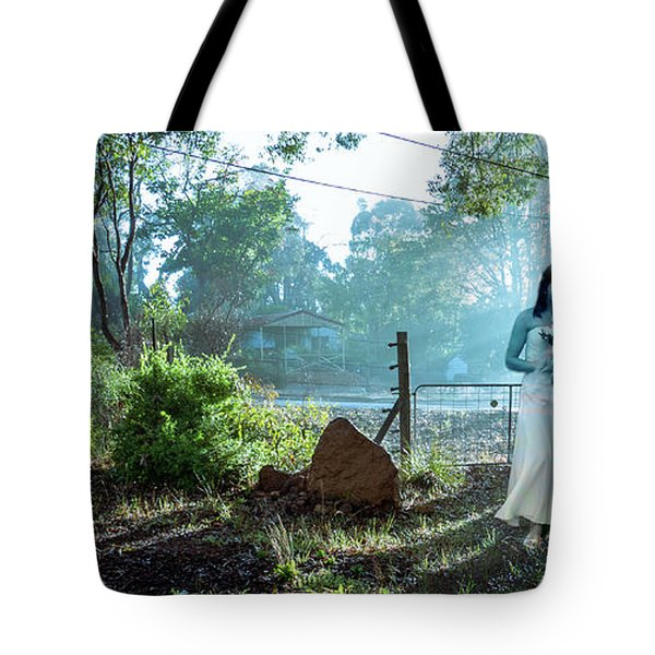 Tote Bag featuring the photograph Blue Lady by Jeremy Holton