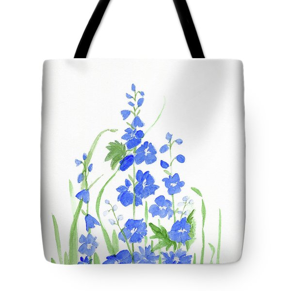 Blue Larkspur  Tote Bag