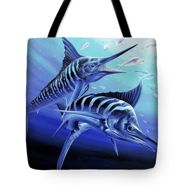 Blue Marlins Tote Bag