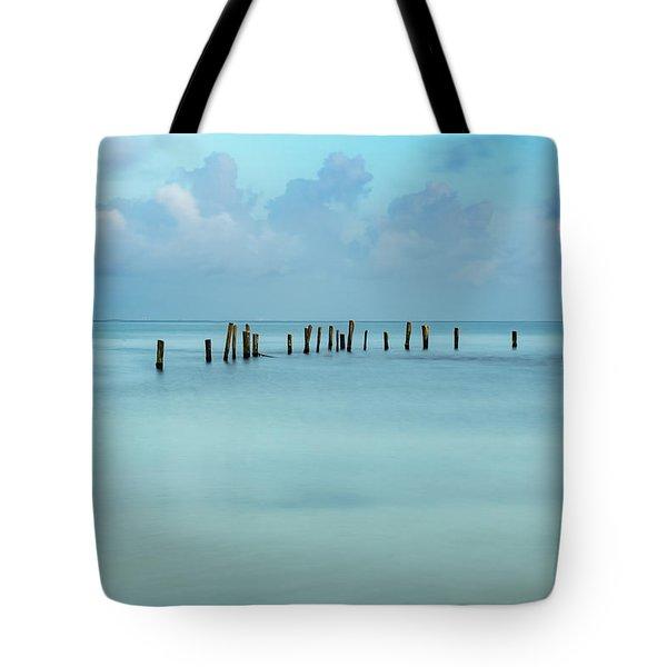 Blue Mayan Sea Tote Bag