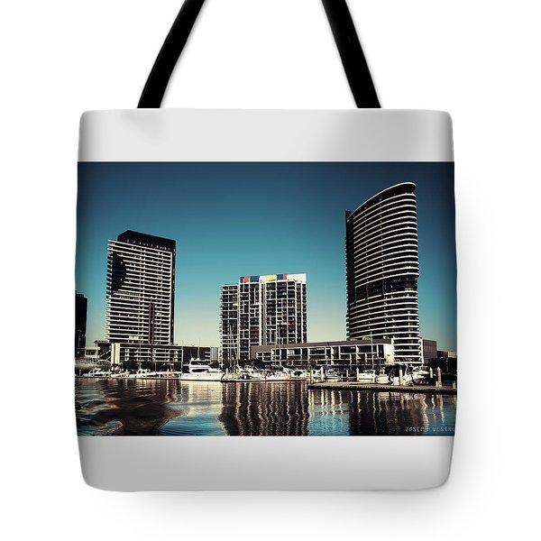 Blue Melbourne Tote Bag