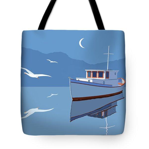Blue Moon Tote Bag