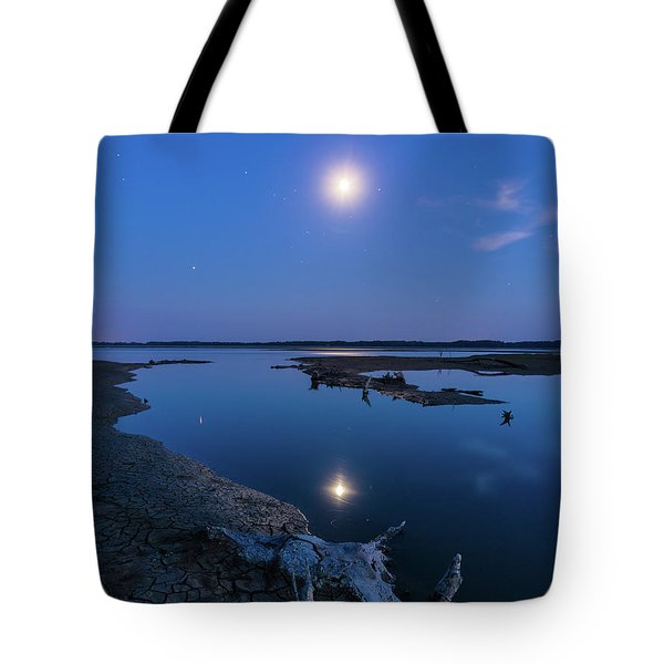 Tote Bag featuring the photograph Blue Moonlight by Davor Zerjav