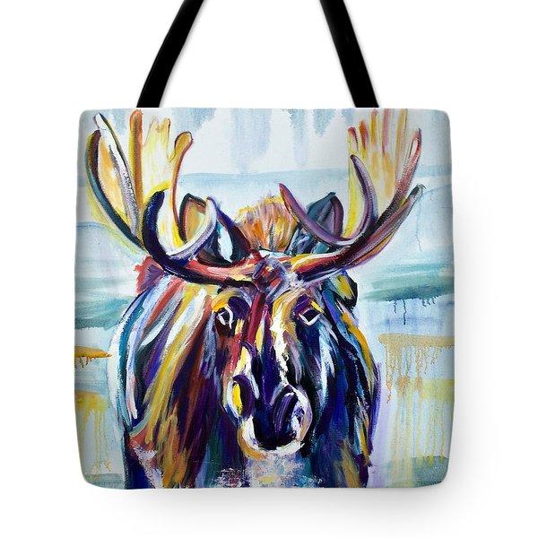 Blue Moose Tote Bag