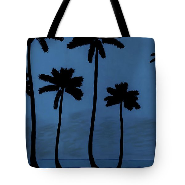 Blue - Night - Beach Tote Bag