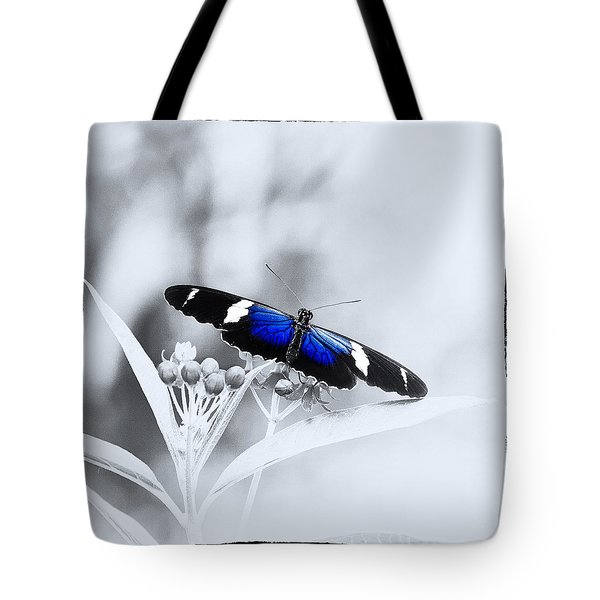 Blue Postman Butterfly Tote Bag