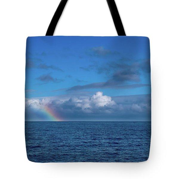 Blue Rainbow Horizon Tote Bag