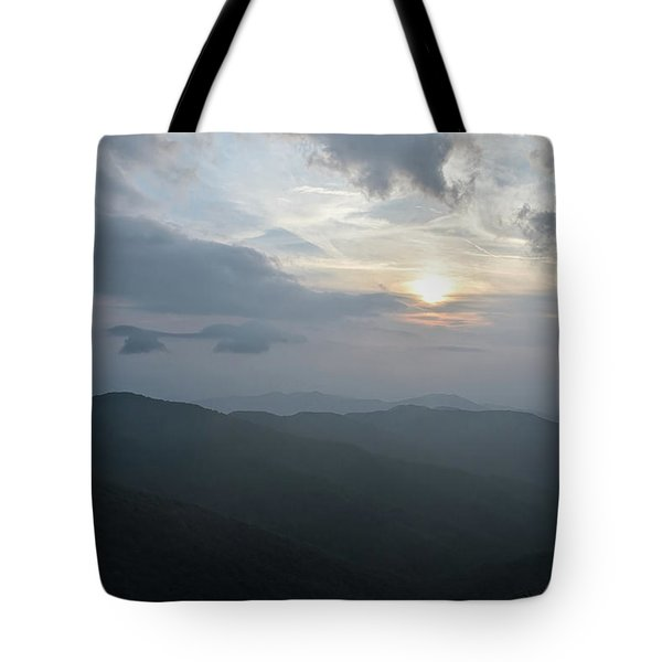 Tote Bag featuring the photograph Blue Ridge Parkway Sunset by Claire Turner