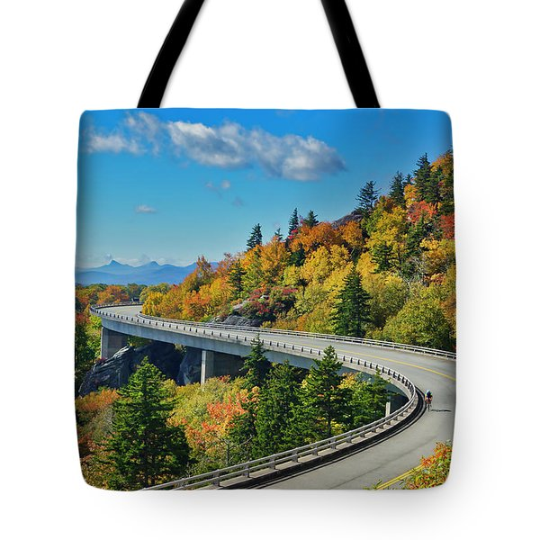 Tote Bag featuring the photograph Blue Ridge Parkway Viaduct by Meta Gatschenberger