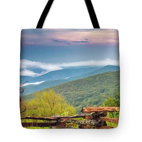 Tote Bag featuring the photograph Blue Ridge Parkway View by Ken Barrett