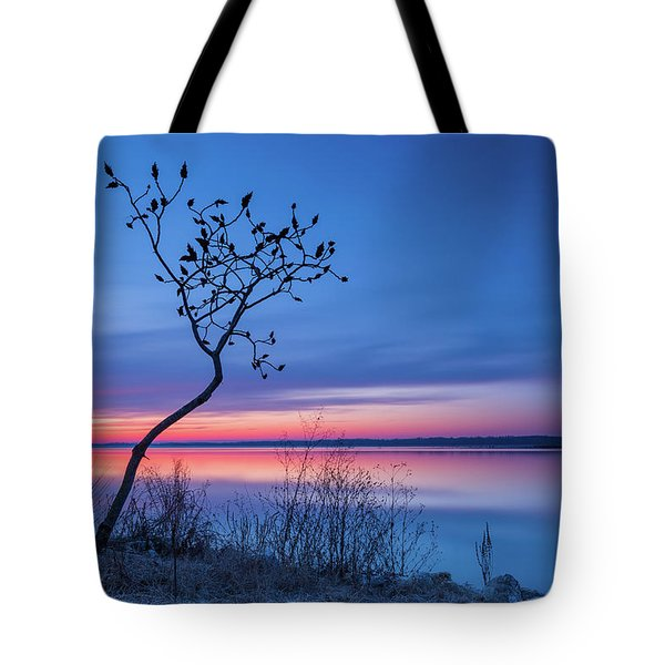 Blue Silence Tote Bag