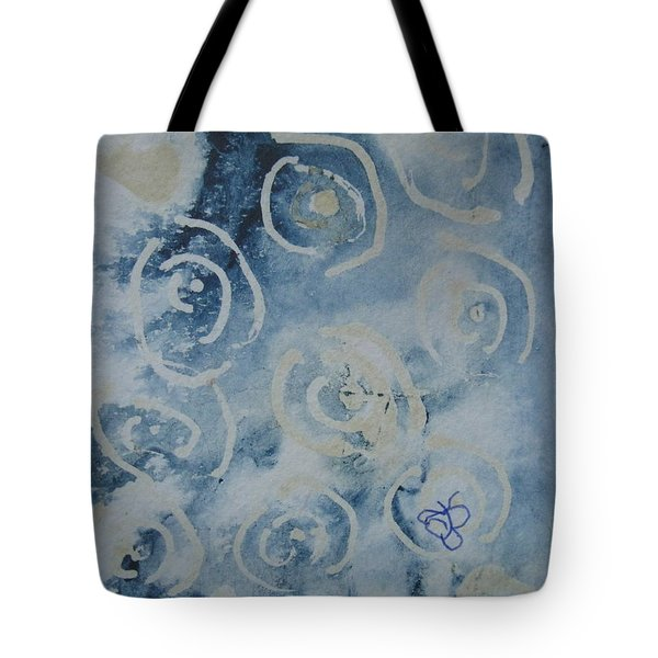 Blue Spirals Tote Bag