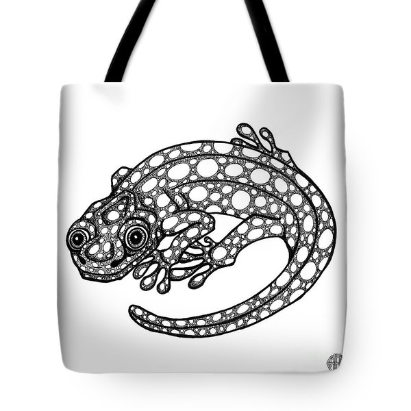 Blue Spotted Salamander Tote Bag