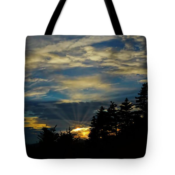 Tote Bag featuring the photograph Blue Sunset by Meta Gatschenberger
