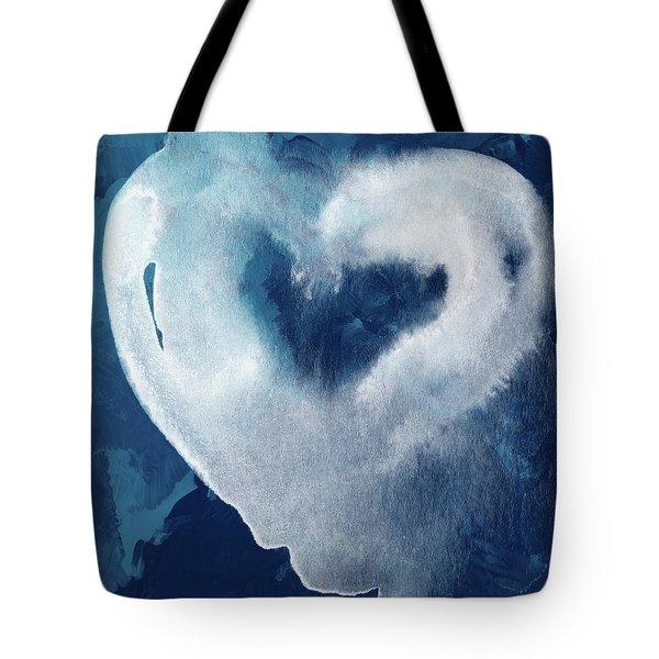Blue Valentine- Art By Linda Woods Tote Bag