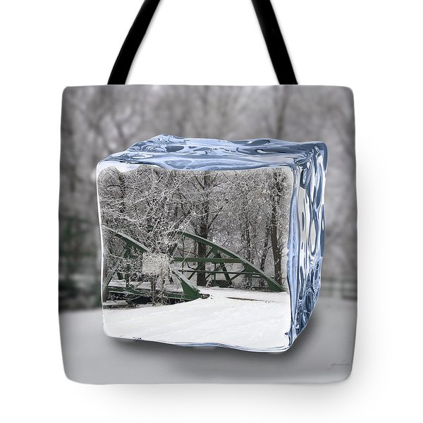 Blue Water Ice Cube Tote Bag
