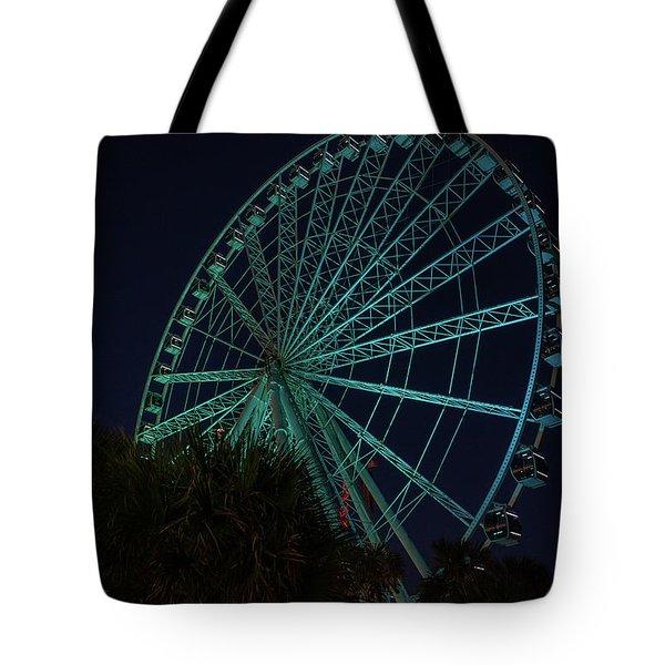 Blue Wheel Tote Bag