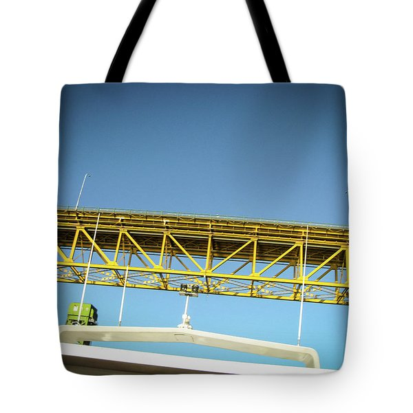 Tote Bag featuring the photograph Blue, Yellow And Green by Juan Contreras