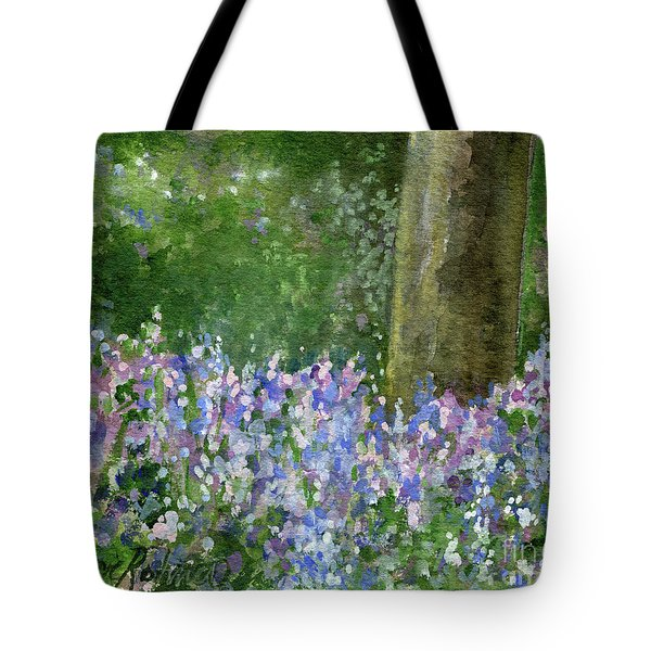 Bluebells Under The Trees Tote Bag