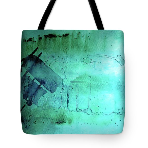 Tote Bag featuring the painting Blues And Twos by Valerie Anne Kelly