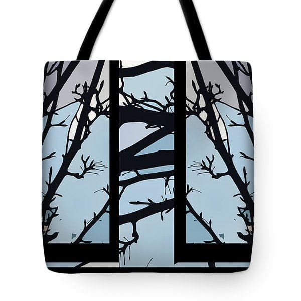 Blues - Barely Spring Abstract - Tote Bag