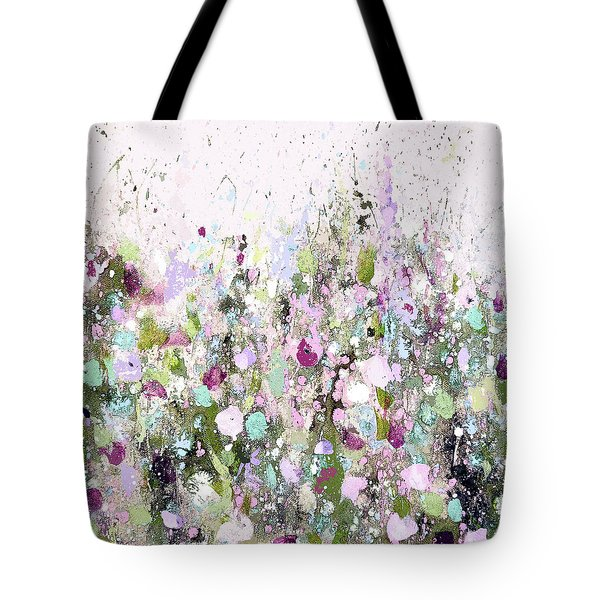 Blush Meadow Tote Bag