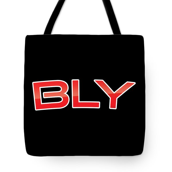 Tote Bag featuring the digital art Bly by TintoDesigns