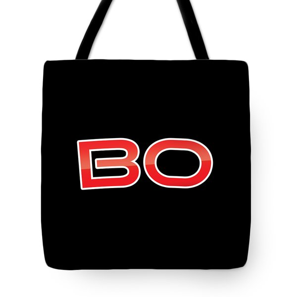 Tote Bag featuring the digital art Bo by TintoDesigns