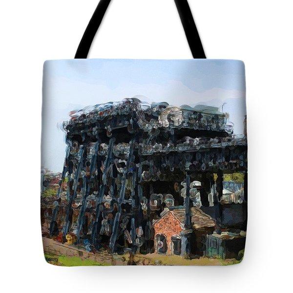 Boat Lift Tote Bag