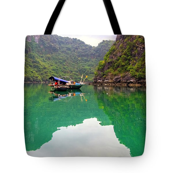 Boat On Halong Bay 2, Vietnam Tote Bag