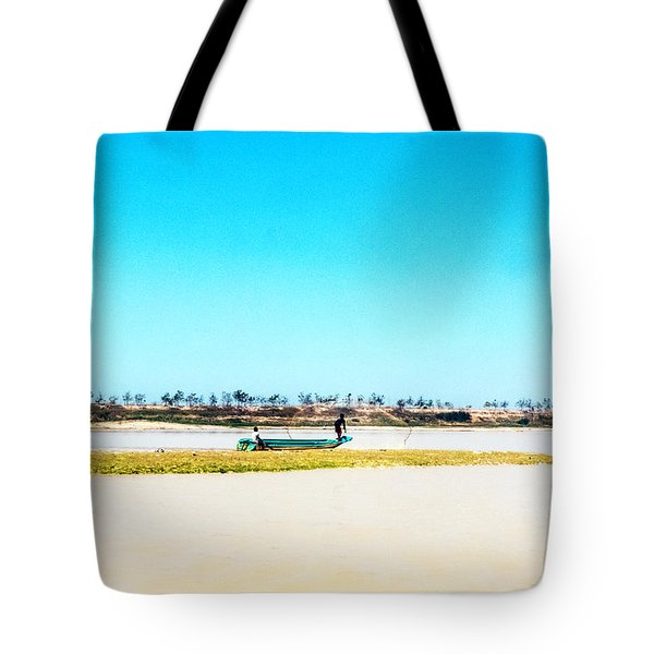 Boat On Tonle Sap Lake - Siem Reap, Cambodia Tote Bag