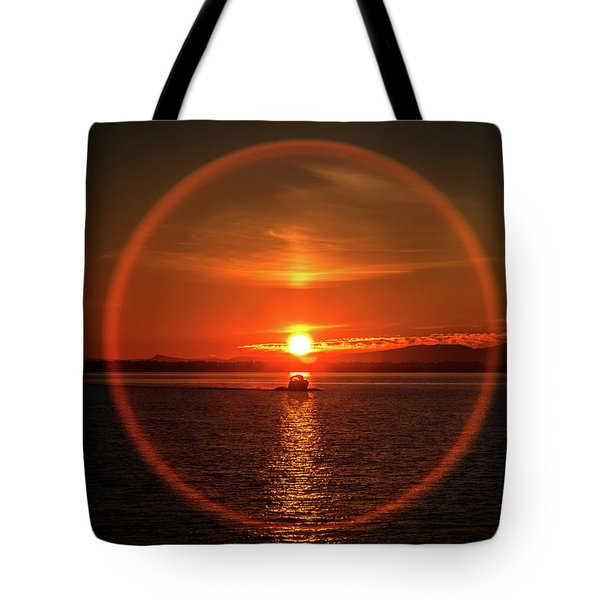 Boating In The Iris Tote Bag