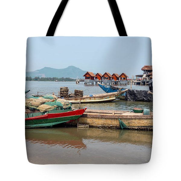 Boats In Lang Co - Hue, Vietnam Tote Bag