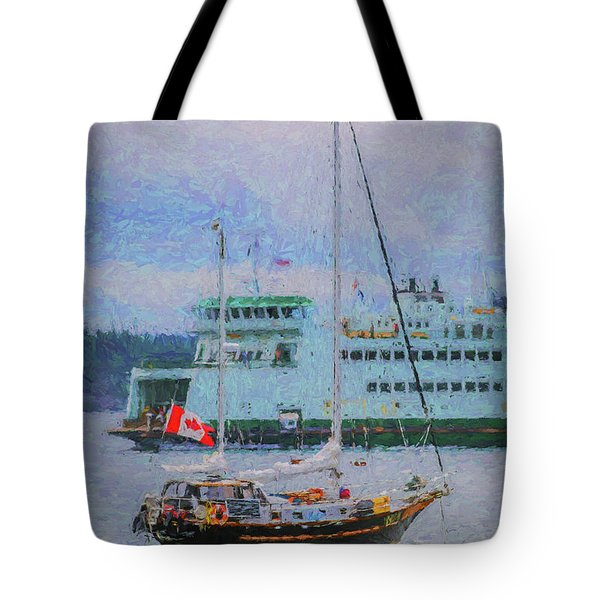 Boats In Puget Sound Tote Bag