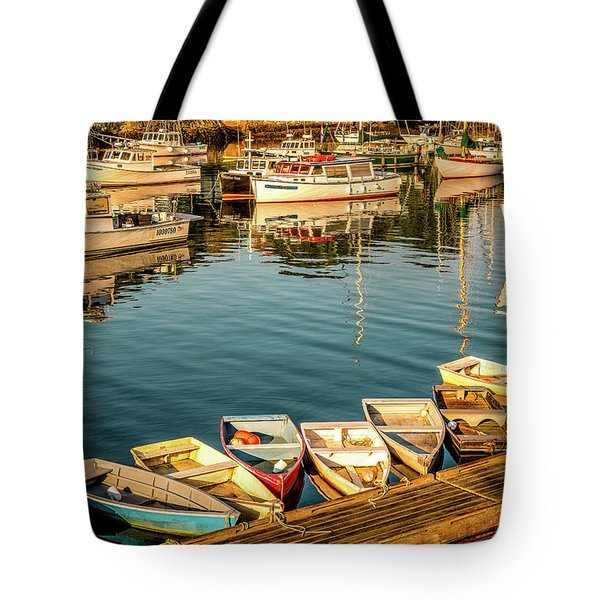 Boats In The Cove. Perkins Cove, Maine Tote Bag