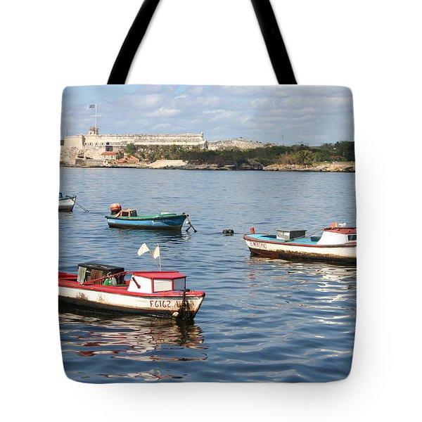 Boats In The Harbor Havana Cuba 112605 Tote Bag