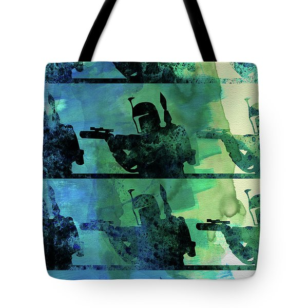 Boba Fett Collage Watercolor 1 Tote Bag