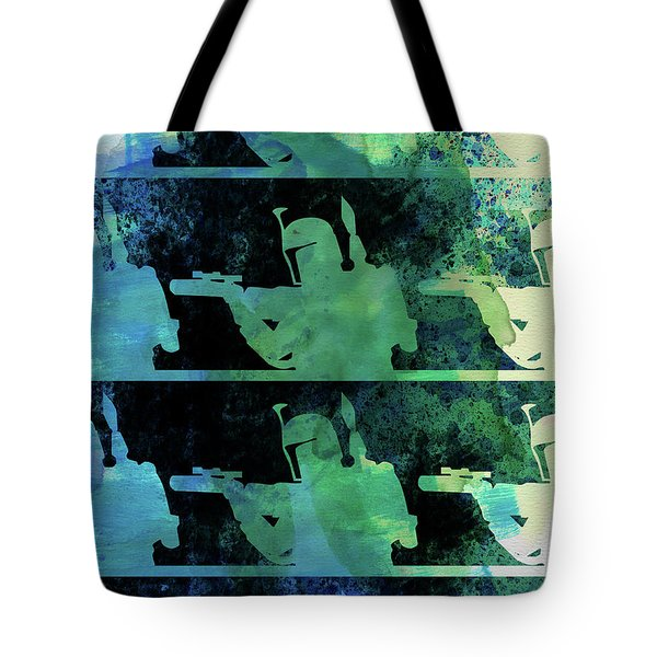 Boba Fett Collage Watercolor 2 Tote Bag
