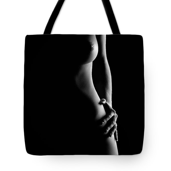 Bodyscape Nude Woman Standing Tote Bag