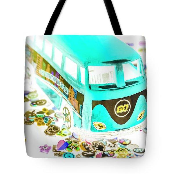 Boho Blue Tote Bag