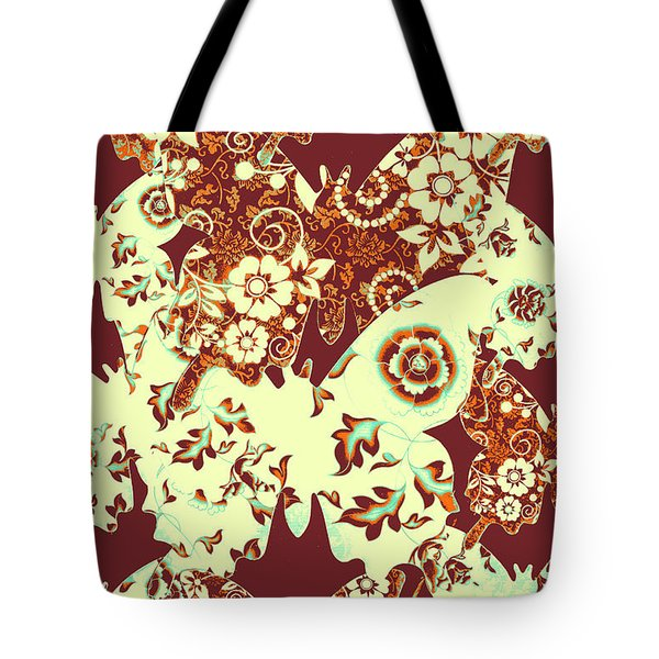 Boho Butterflies Tote Bag