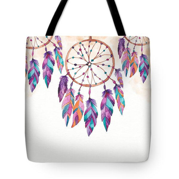 Boho Dreamcatcher - Boho Chic Ethnic Nursery Art Poster Print Tote Bag