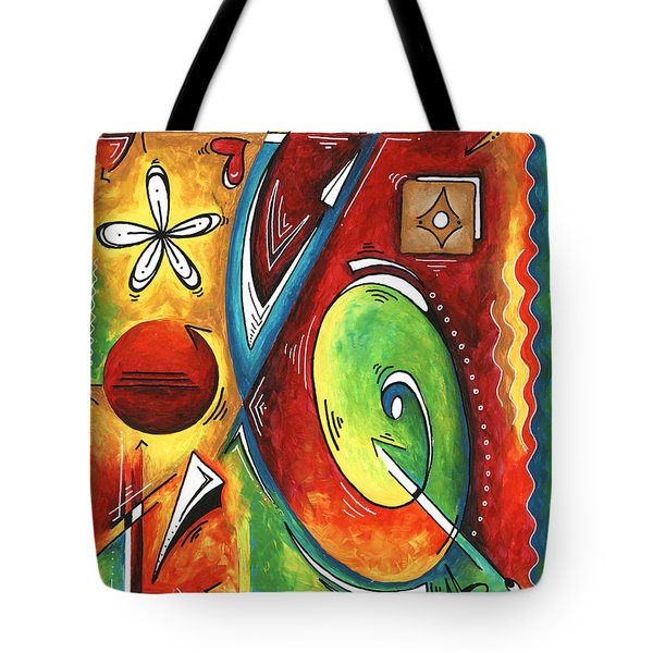 Bold Abstract Symbolic Inspirational Original Painting Follow Your Path By Madart Tote Bag