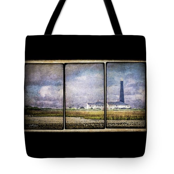 Bolivar Lighthouse Triptych 1 Tote Bag