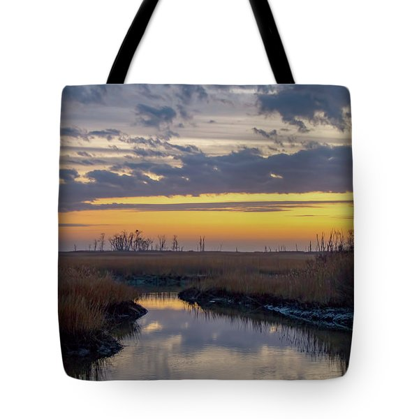 Tote Bag featuring the photograph Bombay Hook Dawn's Early Light by Kristia Adams