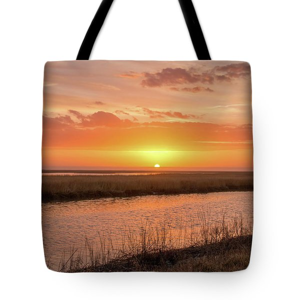 Tote Bag featuring the photograph Bombay Hook Sunrise by Kristia Adams